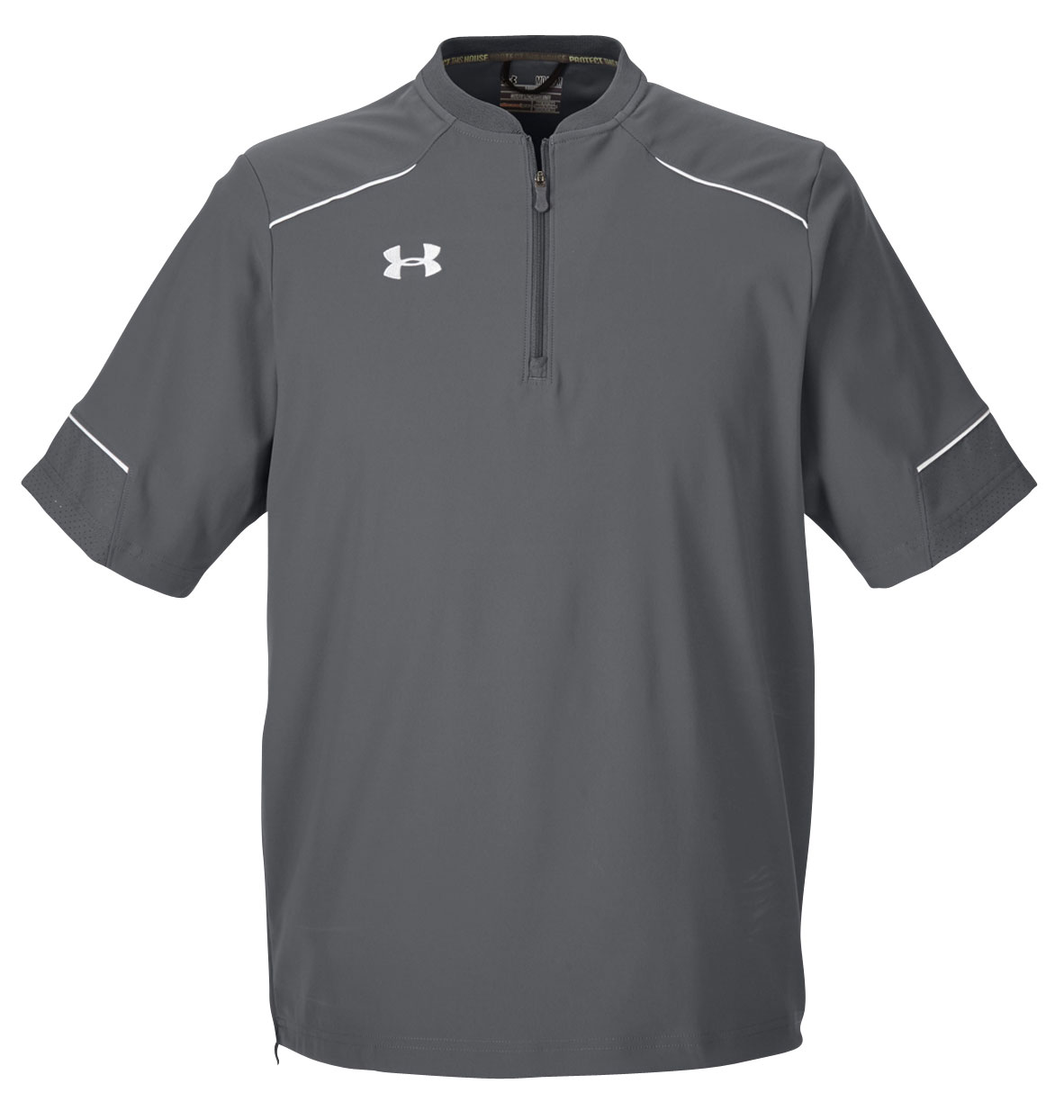 Custom mens under armour ultimate short sleeve windshirt for Customized under armour shirts