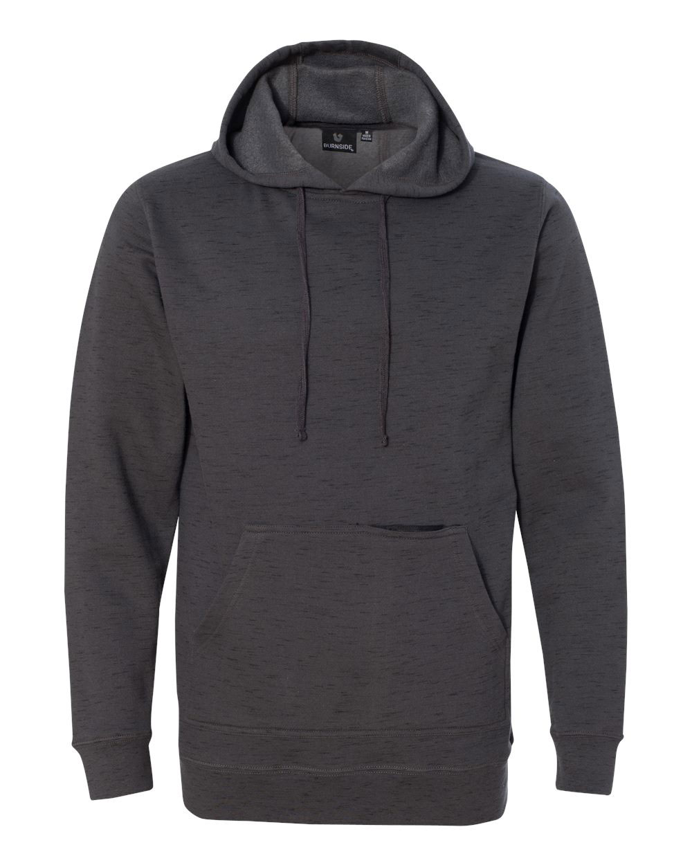 Burnside Injected Yarn Dyed Fleece Hooded Mens Pullover