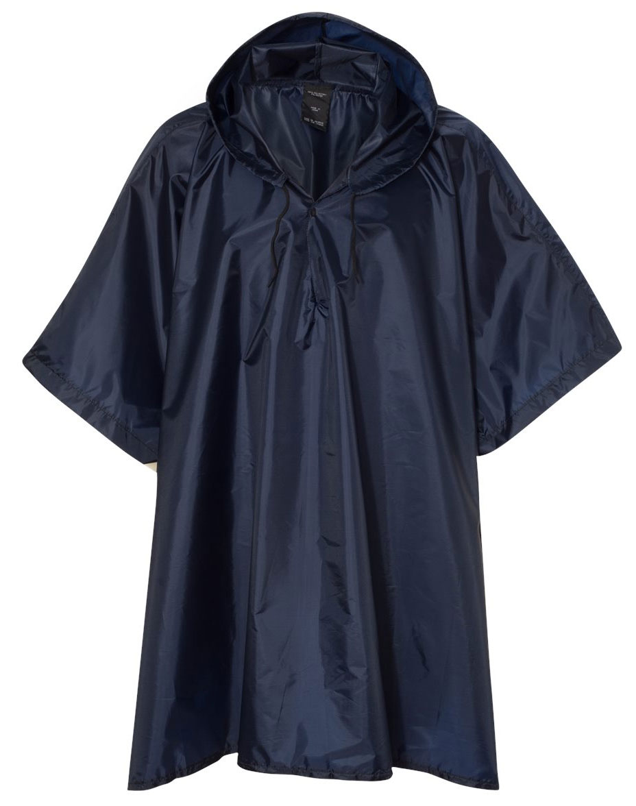 Packable Adult Rain Poncho