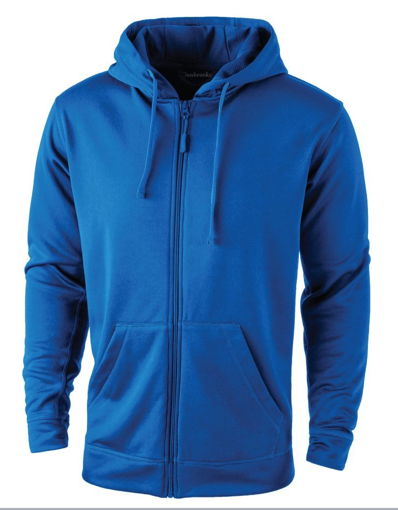 Dunbrooke Mens Trophy Full Zip Tech Fleece Hoodie