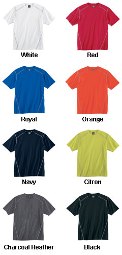 Mens Contrast Stitch Short Sleeve Tee - All Colors