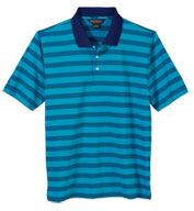 Custom Brook Brothers Mens Varigated Stripe Jersey Short Sleeve Polo