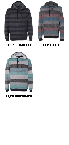 Mens Burnside Printed Striped Fleece - All Colors