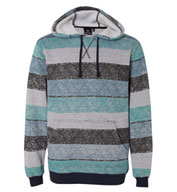 Custom Mens Burnside Printed Striped Fleece