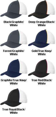 Sport-Tek® Piped Mesh Back Cap - All Colors