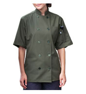Custom Uncommon Threads South Beach Short Sleeve Chef Coat