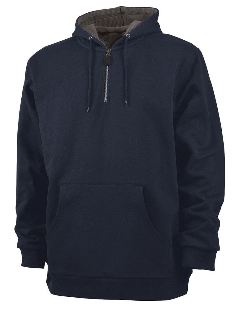 Charles River Adult Tradesman Thermal Quarter Zip Sweatshirt