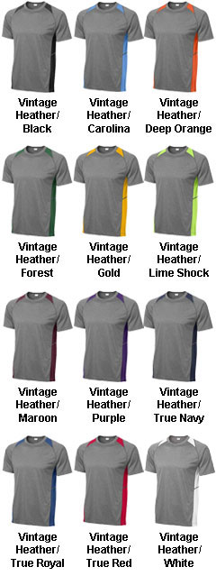 Adult Heather Colorblock Contender™ Tee - All Colors