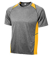 Custom Sport-Tek Adult Heather Colorblock Contender™ Tee