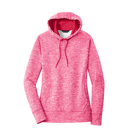 a94a2bdc88c Design Sport-Tek Ladies PosiCharge Electric Heather Fleece Hooded ...