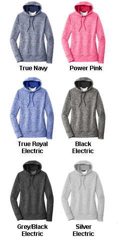 Sport-Tek Ladies PosiCharge Electric Heather Fleece Hooded Pullover - All Colors