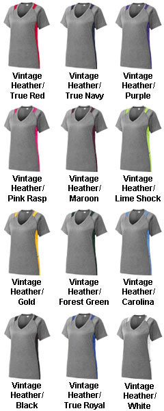 Ladies Heather Colorblock Contender™ Tee - All Colors
