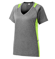 Custom Sport-Tek® Ladies Heather Colorblock Contender™ Tee