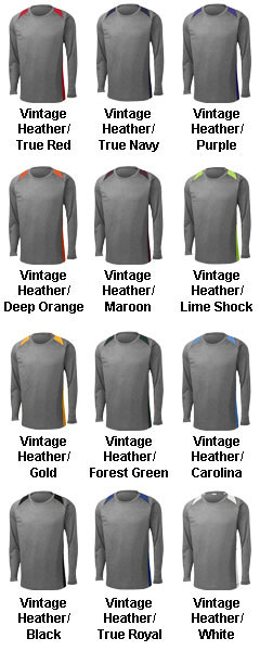 Long Sleeve Heather Colorblock Contender™ Tee - All Colors