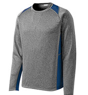 Custom Sport-Tek Adult Long Sleeve Heather Colorblock Contender™ Tee