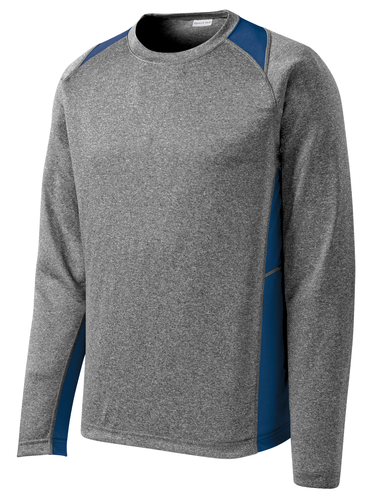 Adult Long Sleeve Heather Colorblock Contender™ Tee