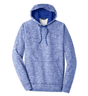 Custom Sport-Tek® Adult PosiCharge® Electric Heather Fleece Hooded Pullover
