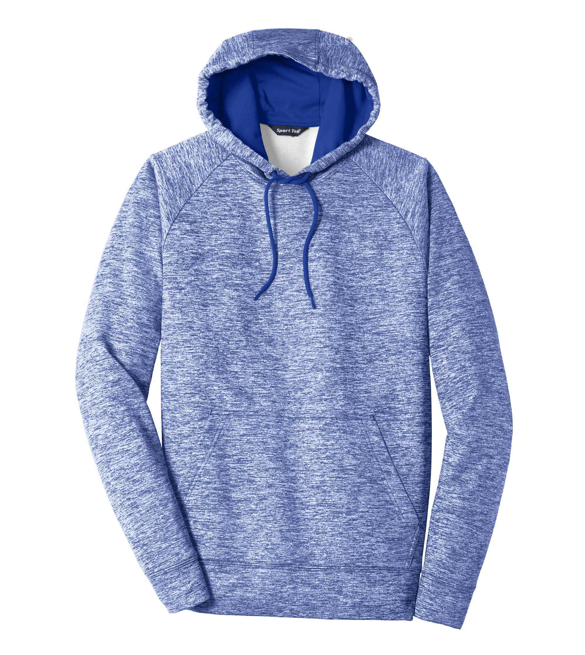 Adult Sport-Tek PosiCharge Electric Heather Fleece Hooded Pullover