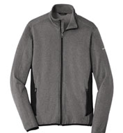 Custom Eddie Bauer Mens Full-Zip Heather Stretch Fleece Jacket