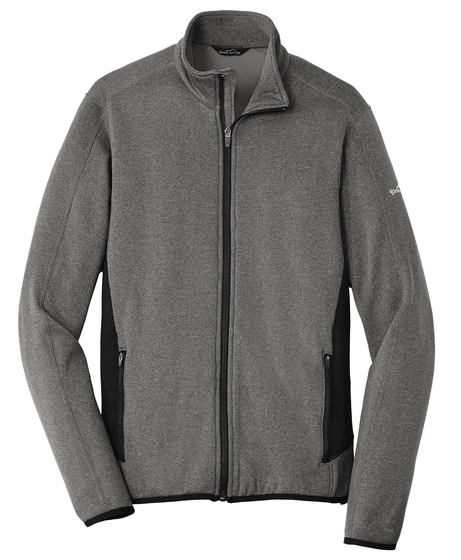 Eddie Bauer Mens Full-Zip Heather Stretch Fleece Jacket