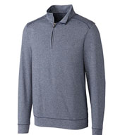 Custom Cutter & Buck Mens Shoreline Half Zip