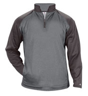 Custom Badger Mens Sport Heather Tonal Fleece 1/4 Zip