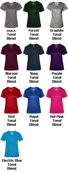 Ladies Tonal Blend V-Neck Tee - All Colors