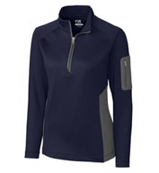 Custom Cutter & Buck Ladies Shaw Hybrid Half Zip