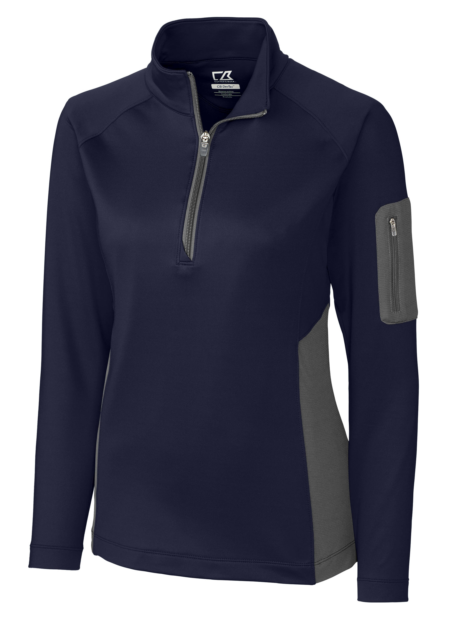Cutter & Buck Ladies Shaw Hybrid Half Zip