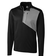 Custom Cutter & Buck Mens Shaw Hybrid Half Zip