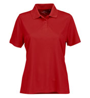 Custom Vansport™ Omega Womens Solid Mesh Tech Polo
