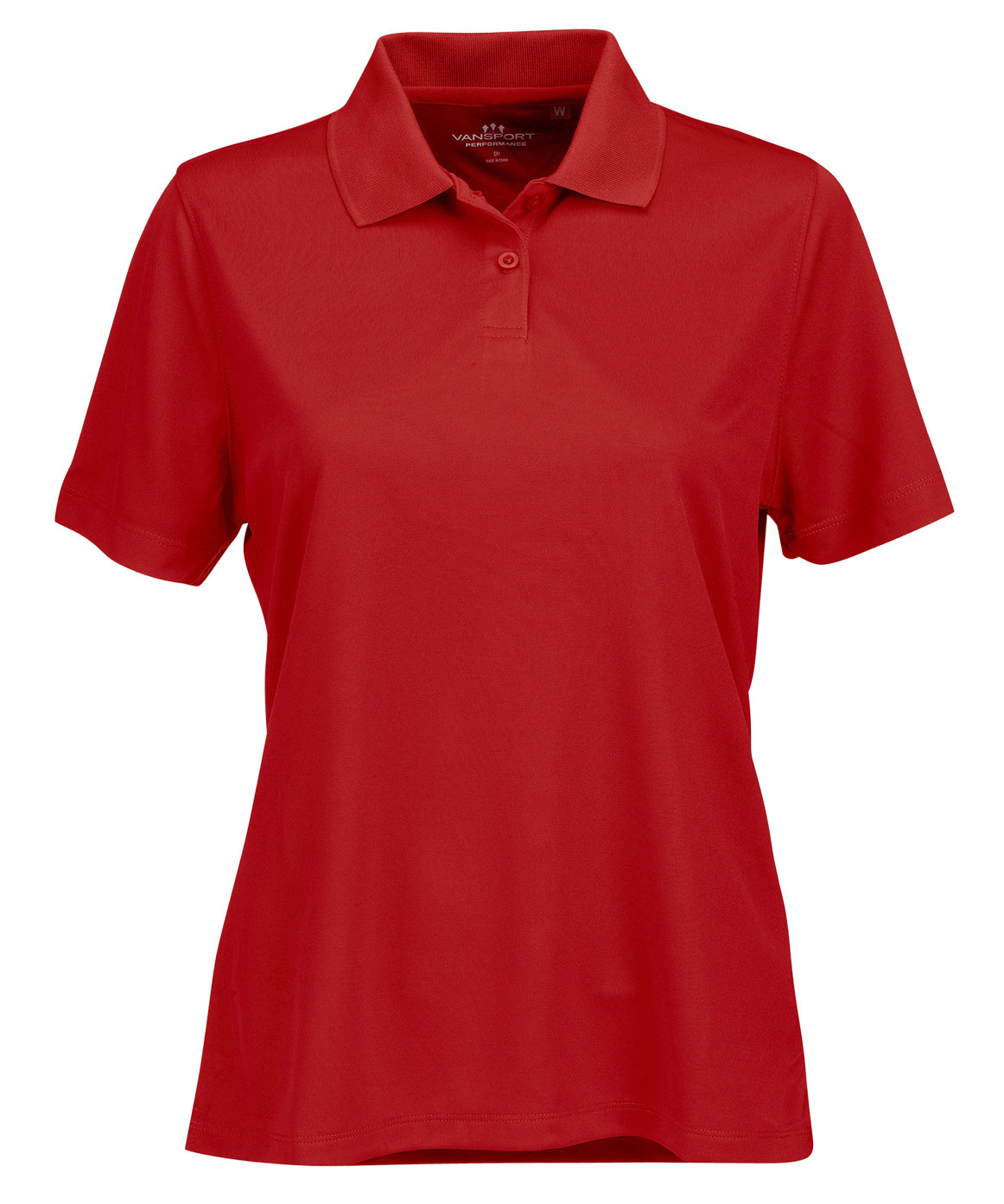 Womens Vansport™ Omega Solid Mesh Tech Polo