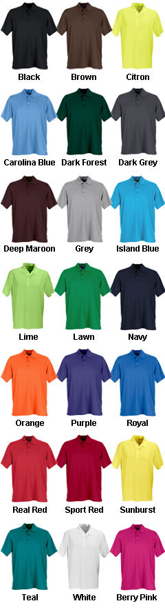 Mens Vansport™ Omega Solid Mesh Tech Polo - All Colors