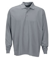 Custom Vansport™ Omega Long Sleeve Solid Mesh Tech Polo