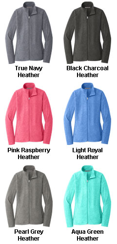 Ladies Heather Microfleece Full Zip Jacket - All Colors