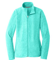 Custom Port Authority® Ladies Heather Microfleece Full Zip Jacket