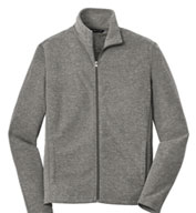 Custom Port Authority® Mens Heather Microfleece Full-Zip Jacket