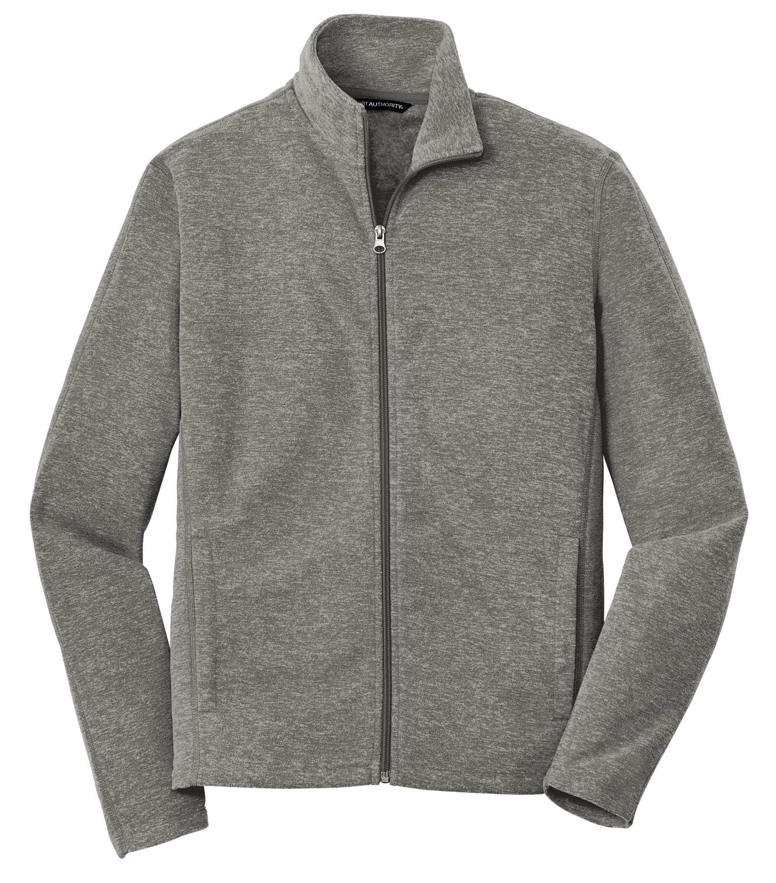 Port Authority® Mens Heather Microfleece Full-Zip Jacket