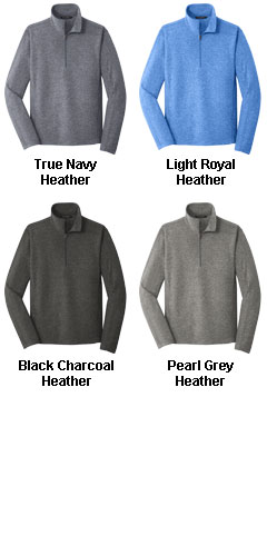 Mens Heather Microfleece 1/2 Zip Jacket - All Colors