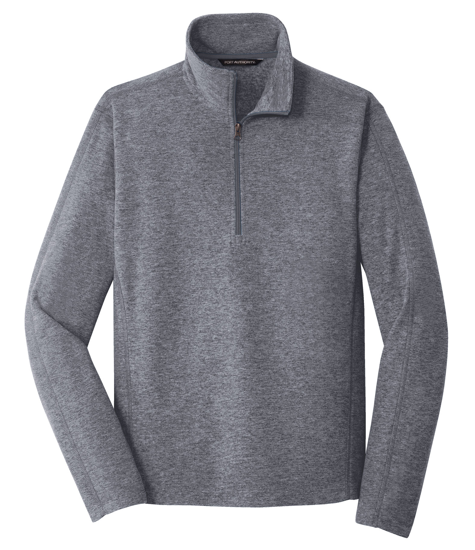 Mens Heather Microfleece 1/2 Zip Jacket