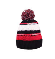 Striped Team Pom Beanie