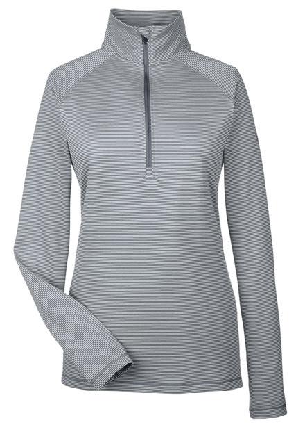under armour qualifier 1 4 zip. ladies under armour corp stripe quarter-zip qualifier 1 4 zip