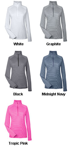 Ladies Under Armour Corp Stripe Quarter-Zip - All Colors