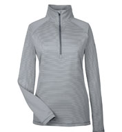Custom Ladies Under Armour Corp Stripe Quarter-Zip
