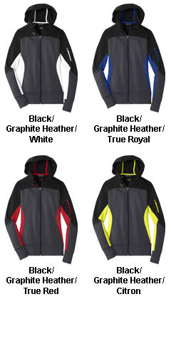 Ladies Tech Fleece Colorblock Hooded Jacket - All Colors