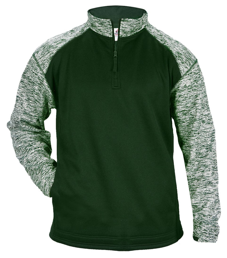 Badger Mens Blend Sport Fleece 1/4 Zip