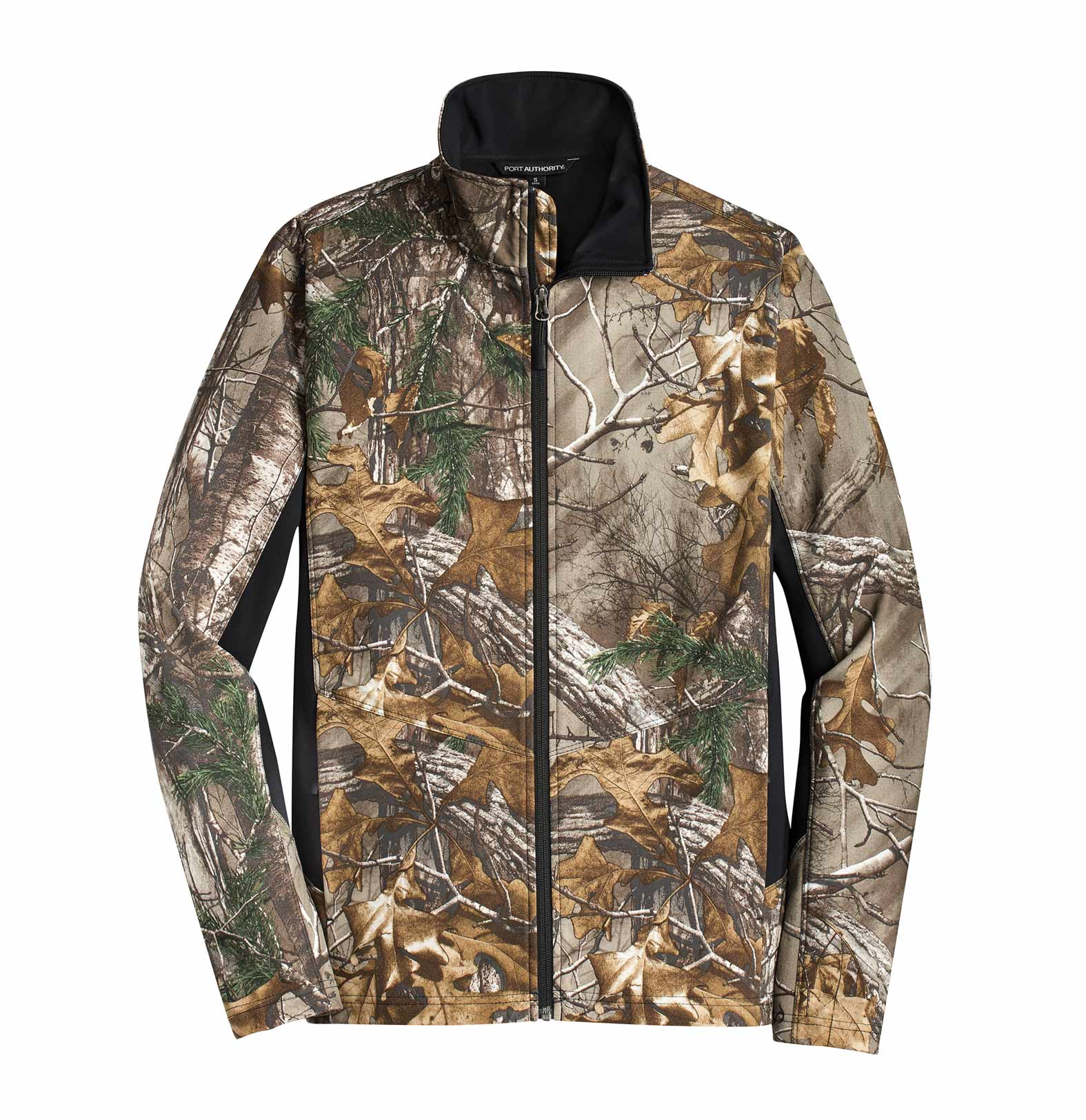 Port Authority®  Mens Camouflage Colorblock Soft Shell Jacket