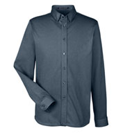 Custom Devon & Jones Mens Central Cotton Blend Melange Button Down