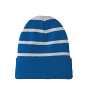 Custom Sport-Tek® Striped Beanie with Solid Band