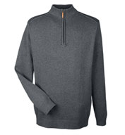 Custom Devon & Jones Mens Manchester Fully-Fashioned 1/4-Zip Sweater